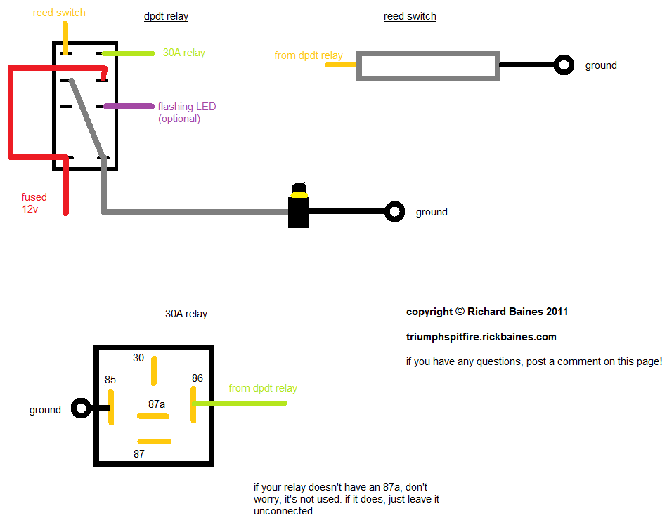 Dpdt Relay Wiring Diagram on car push on wiring diagram