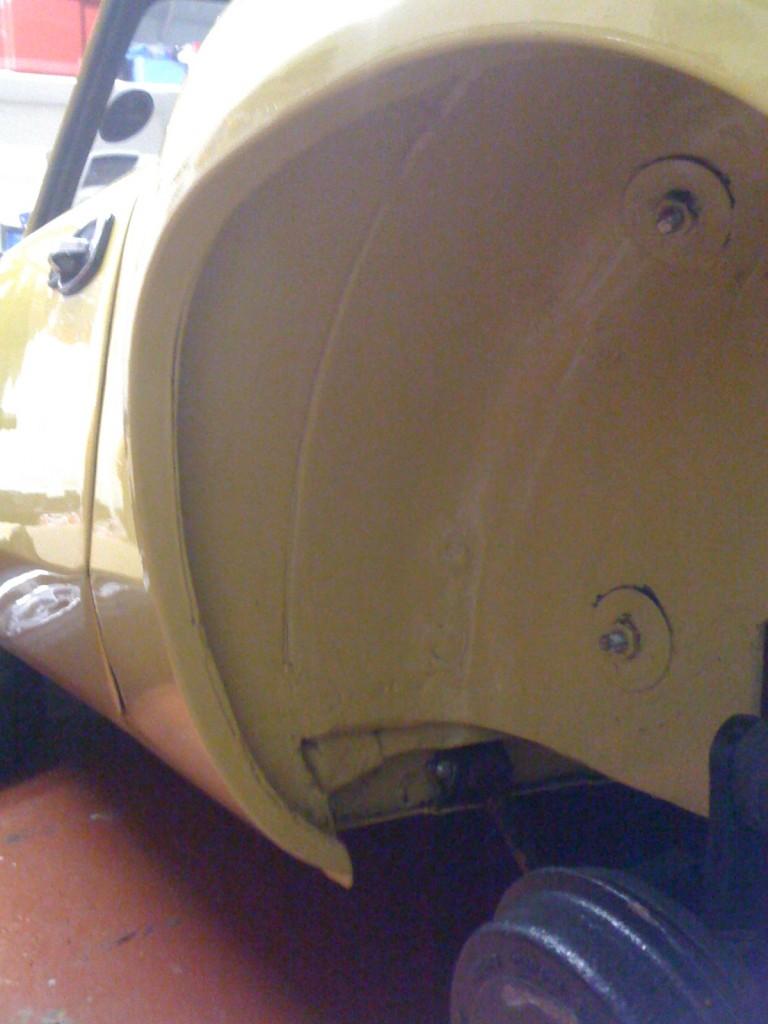 clean wheel arch