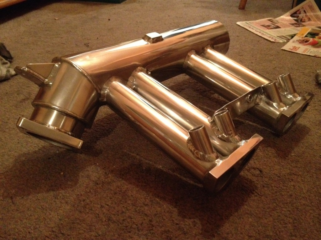 polished triumph spitfire inlet manifold